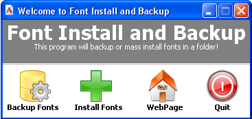 Font install and backup